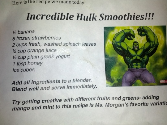 incredible hulk smoothies