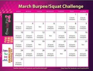 burpee-squat challenge