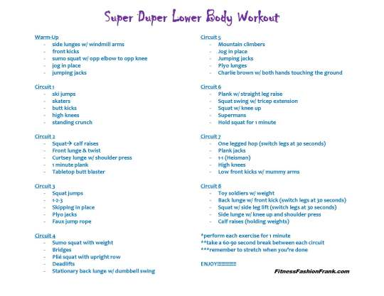 super duper lower body workout